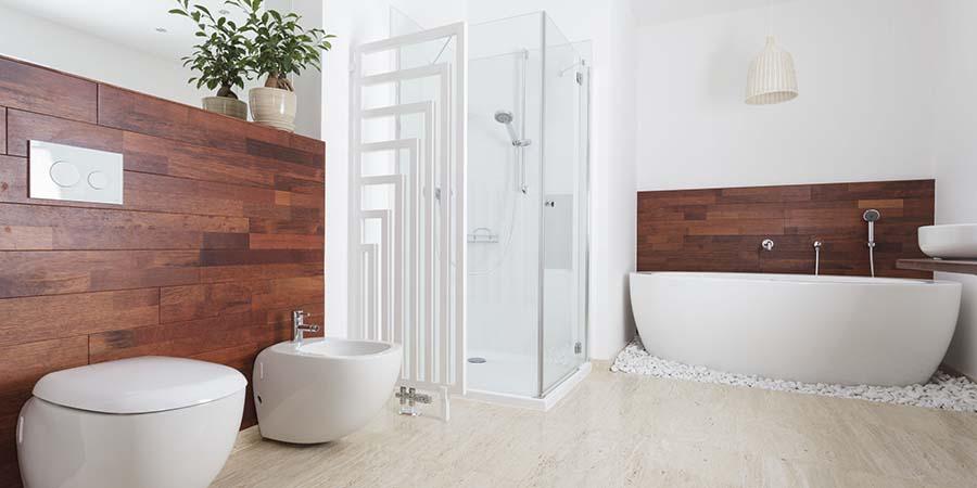 cuarto de baño de madera